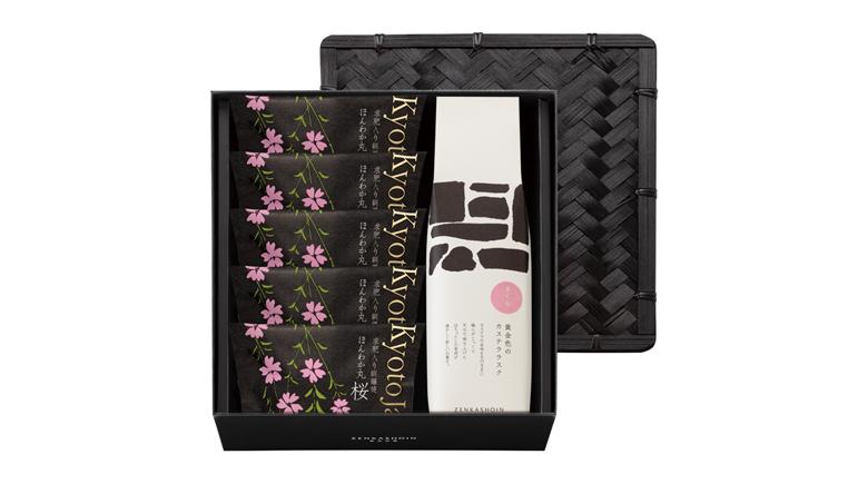 ほんわか丸(どら焼き)桜3個/カステララスク 桜1箱の詰め合わせ